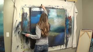 "Abstract Art Painting Demo - Original by Shari Kreller ""Seascape"""