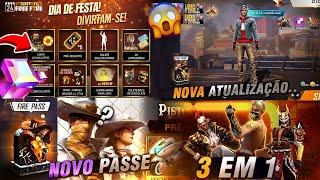 CUBO MÁGICO E PASSE DE GRAÇA NO 4° ANIVERSÁRIO? PASSE DE COWBOYS 2.0, ATUALIZAÇÃO E MAIS - FREE FIRE