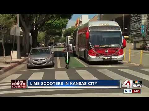 Lime rolls out electronic scooters in Kansas City