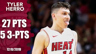 Tyler Herro hot from beyond arc, drains series of clutch 3s in overtime | 2019-20 NBA Highlights