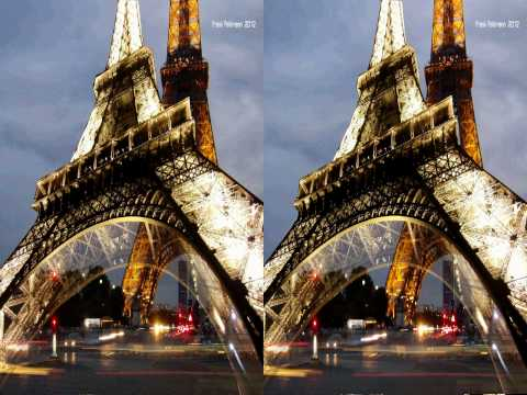 Cubism in Stereo 3D --- Eiffel Tower by  21horizon.com