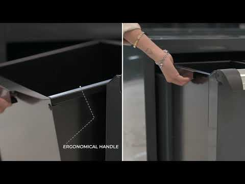 <p><strong>An ecological module</strong>&nbsp;with a large and high-capacity rail-mounted drawer complete with a double removable container for&nbsp;<strong>sorted waste collection</strong>.</p>
