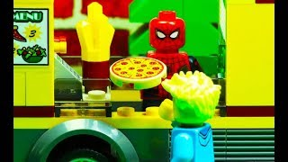 Lego City Spiderman Pizza Delivery