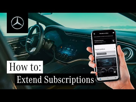 How to Extend Mercedes me Product Subscriptions