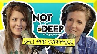 SALT AND VODKA (ICE) CHALLENGE (ft Hannah Hart) // Grace Helbig