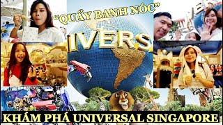 Song Thư Quẩy Banh Nóc Khu Vui Chơi Universal Studio ở Singapore (Singapore Trip)