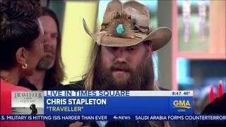 Chris Stapleton sings