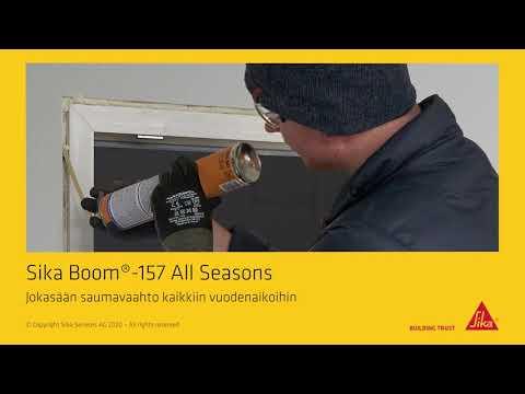 Sika Boom®-157 All Seasons - joka sään pillivaahto eristää ja tiivistää