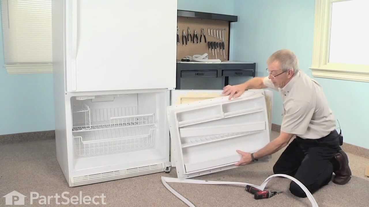Refrigerator Repair Replacing The Freezer Door Gasket