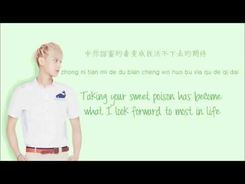 EXO-M - Overdose (上瘾) (Color Coded Chinese/PinYin/Eng Lyrics)