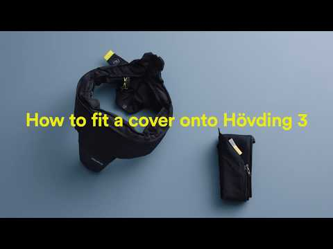 How to fit a cover onto Hövding 3