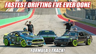 Tried To Drift a Formula 1 Track... It Was Terrifyingly FAST!!! (Freedom Take the Wheel)