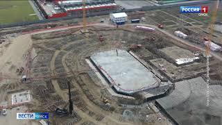 Пресс-служба «Авангарда» поделилась новостями со стройплощадки ледового комплекса «Арена Омск»