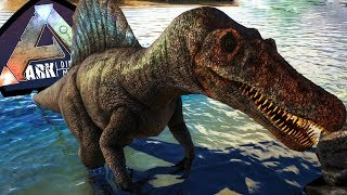 Spinosaurus do Jurassic Park 3, Spino vs Baryonix, Defendo território! | ARK: Play As Dino (#22)