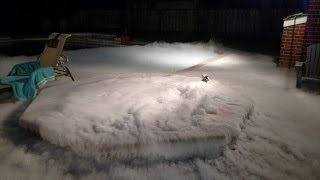 75 lbs of pellet dry ice into a hot tub