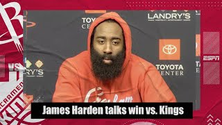 James Harden on the Rockets' first win of the season & talks playing with John Wall | NBA on ESPN