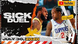 LeBron James vs Kawhi Leonard EPIC DUEL Full Highlights | Clippers vs Lakers | July 30, 2020