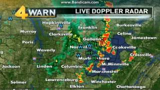 WSMV Weather Radar Severe Thunderstorm Warning (5/21/13)