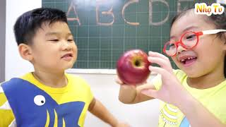 Kids Go to Schools | Funny Pretend Play with Teacher | Nhọ TV