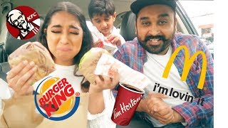 Letting The Person In Front of Us Decide What We Eat for 24 Hours Challenge | Hindi