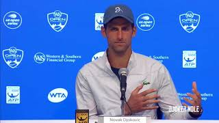 "Novak Djokovic ""I'm hoping that I get my hands on the trophy"" - Cincinnati 2018 (HD)"