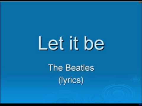 Baixar Let it be - The Beatles (lyrics)