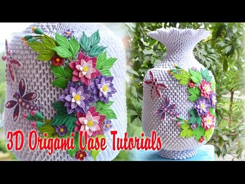 How To Make 3d Origami Rainbow Vase Part1 Videomoviles