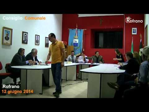 Consiglio Comunale Rofrano 12 giugno 2014