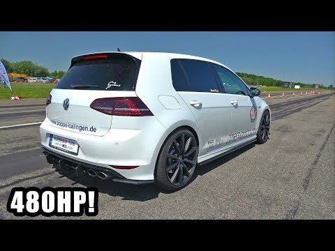 480HP Volkswagen Golf 7 R HGP Turbo – Exhaust Sounds & Top Speed Run!