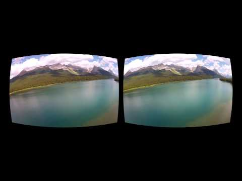 Oculus Rift 3D GoPro movie - Canada 07 Lake Maligne