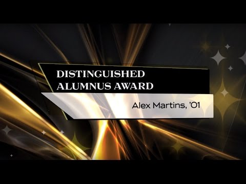 Alex Martins, '01 - 2015 Distinguished Alumnus Award Winner