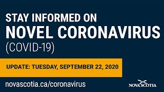 Update COVID-19 for Nova Scotians: Tuesday Sept 22