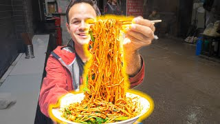 The BEST Noodles in the WORLD!!! Chinese FIRE NOODLE + Street Food Tour of Chongqing - EXTREME!!!