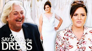 David Emanuel Helps Bride Decide How Much Cleavage She Wants To Show | Say Yes To The Dress UK