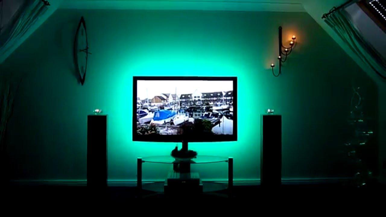Rgb Led Lights Using 5m Strip For Tv Back Lighting