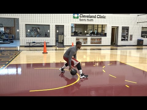 Kay Felder Med Ball Crossover Drill