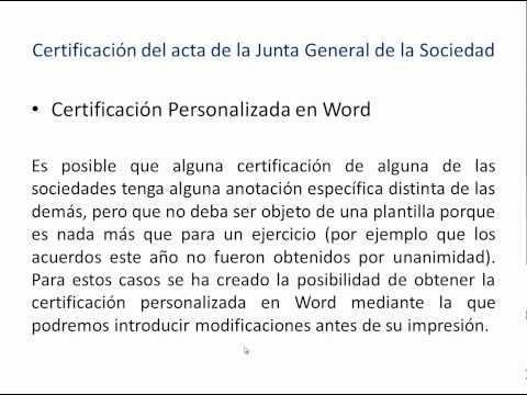Nuevo sistema de certificaciones y memorias