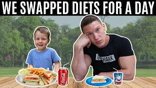 I swapped diets with my 2 year old son for 24 hours...