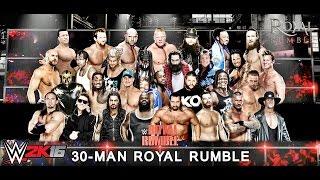 WWE Royal Rumble 2016 Simulation WWE 2K16 Gameplay 720p [Xbox 360/PS3]