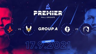BLAST Premier Fall Groups: Astralis vs. Vitality, Evil Geniuses vs. Team Liquid |  Group A, Day 2