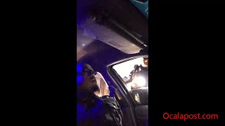Dash cam: Firefighter takes control after being stopped by police [full length]