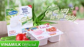 Quảng cáo Sữa chua Vinamilk Nha đam & Lựu đỏ - Ngon mê say, Đẹp ngất ngây
