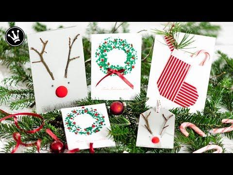 3 DIY Ideen WEIHNACHTSKARTEN & GESCHENKANHÄNGER | Weihnachtskarte basteln | Geschenkidee |VERLOSUNG