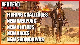 NEW DLC COMING to Red Dead Online, Fishing challenges, New Game Modes and New Weapons and Clothes.