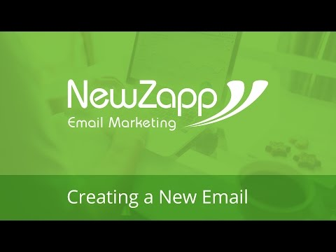 NewZapp Video Guides - Creating a New Email