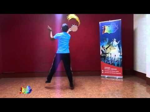 Tutorial de Danza con Pandero (Nivel Avanzado) - Me gozaré - Graduación Academia Hallal 2015
