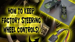 how to : factory steering wheel controls with aftermarket head unit cd  player - install axxess aswc - youtube