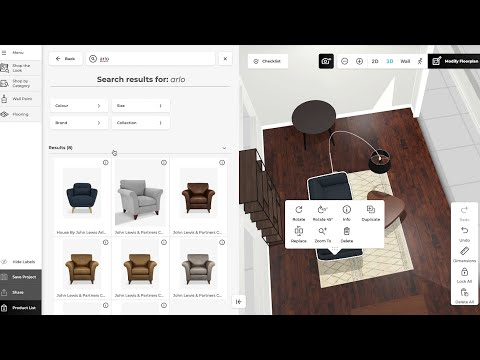 John Lewis and Partners 3D Room Planner for Home Design Appointments