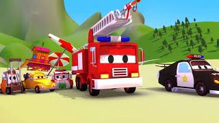 Car Patrol -  The Garbage Beach - Car City ! Police Cars and fire Trucks for kids