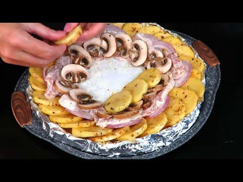 КАРТОФЕЛЬ С МЯСОМ на праздничный стол Красиво Вкусно Люда Изи Кук картофель к обеду Potatoes Recipe photo